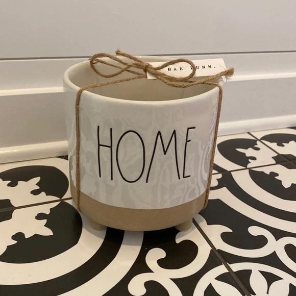 "Rae Dunn ""HOME"" Ceramic Planter Pot with Feet"